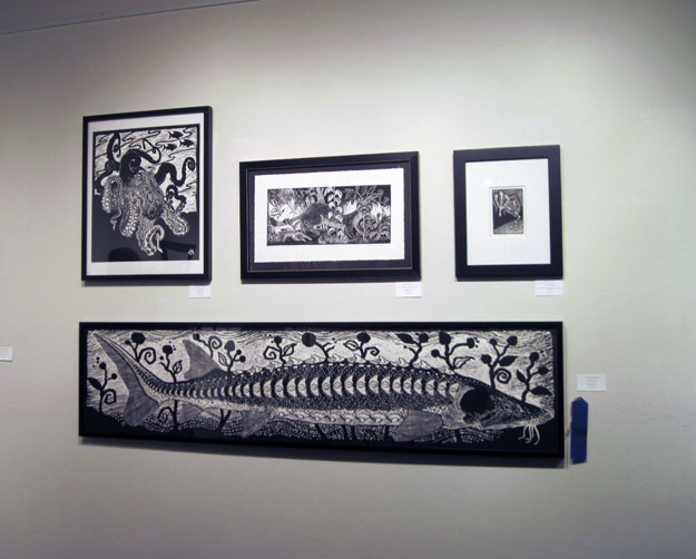 Grouping of black and white prints